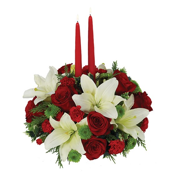 Traditional Holiday Centerpiece 1 800 Flowers 4 Gift Seattle