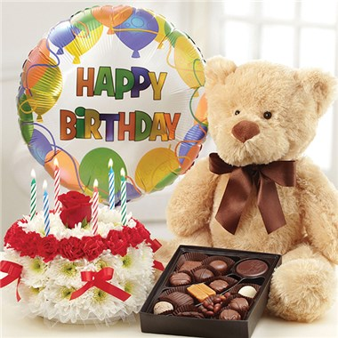Ultimate Birthday Bundle Bright 1800flowers 4 Gift Seattle
