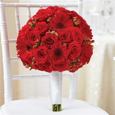 1-800-Flowers® All Red Bridal Bouquet | 1-800-Flowers 4 ...