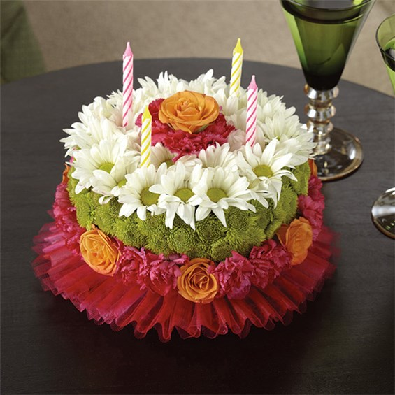 Happiest Birthday Flower Cake 1 800 Flowers 4 Gift Seattle
