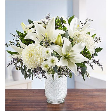1 800 Flowers Pure Elegance Bouquet In White Mosaic Vase 1 800