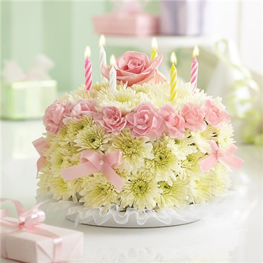 Birthday Flower CakeR Pastel 1991l