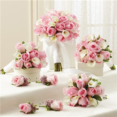 1 800 flowers pink personal package 1 pink bridal bouquet 3 1 800 flowers pink personal package 1 pink bridal bouquet 3 bridesmaid bouquets and 4 boutonnieres mightylinksfo