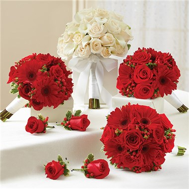 1 800 flowers red and white personal package 1 white bridal 1 800 flowers red and white personal package 1 white bridal bouquet 3 bridesmaid bouquets and 4 boutonnieres mightylinksfo