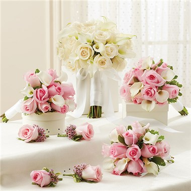 1 800 Flowers Pink And White Personal Package 1 White Bridal