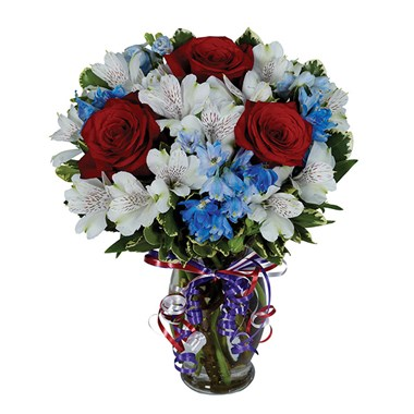 Heres to red white blue 1 800 flowers 4 gift seattle heres to red white blue mightylinksfo