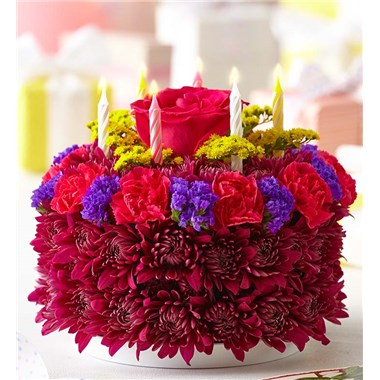 1 800 FlowersR Birthday Flower CakeR Purple BIRTHDAY FLOWER CAKE